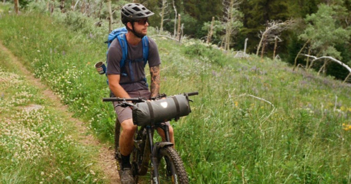 Zac Elik on Mountain bike