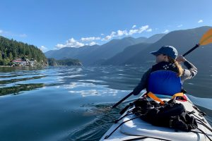 Kayaking on Indian Arm in Burnaby