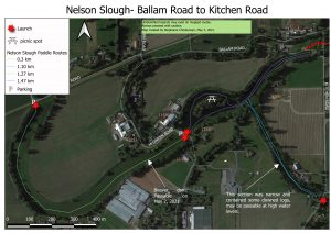 Nelson Slough Ballam to Kitchen map