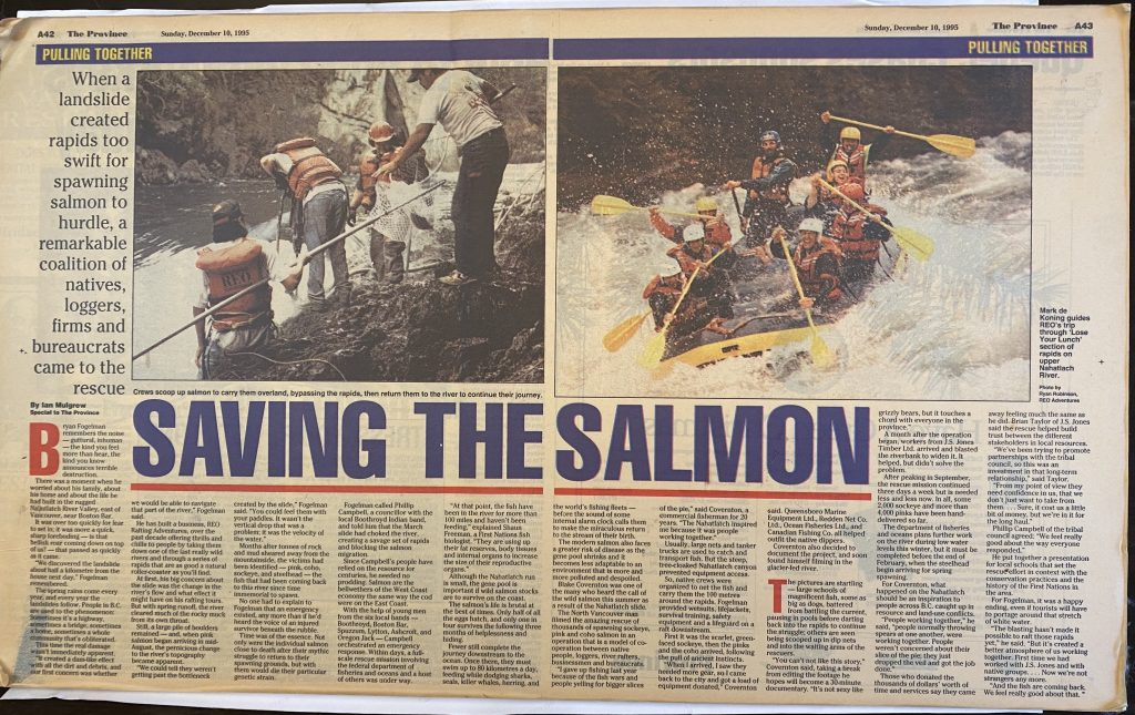 Newspaper article from 1995